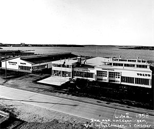 Luleå 1958. Den nya anläggningen vid inflyttningen i oktober.